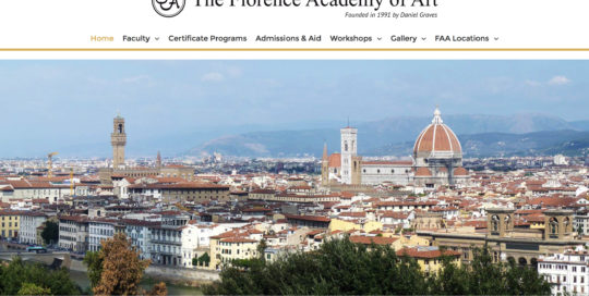 The Florence Academy Of Art realizzazione sito internet